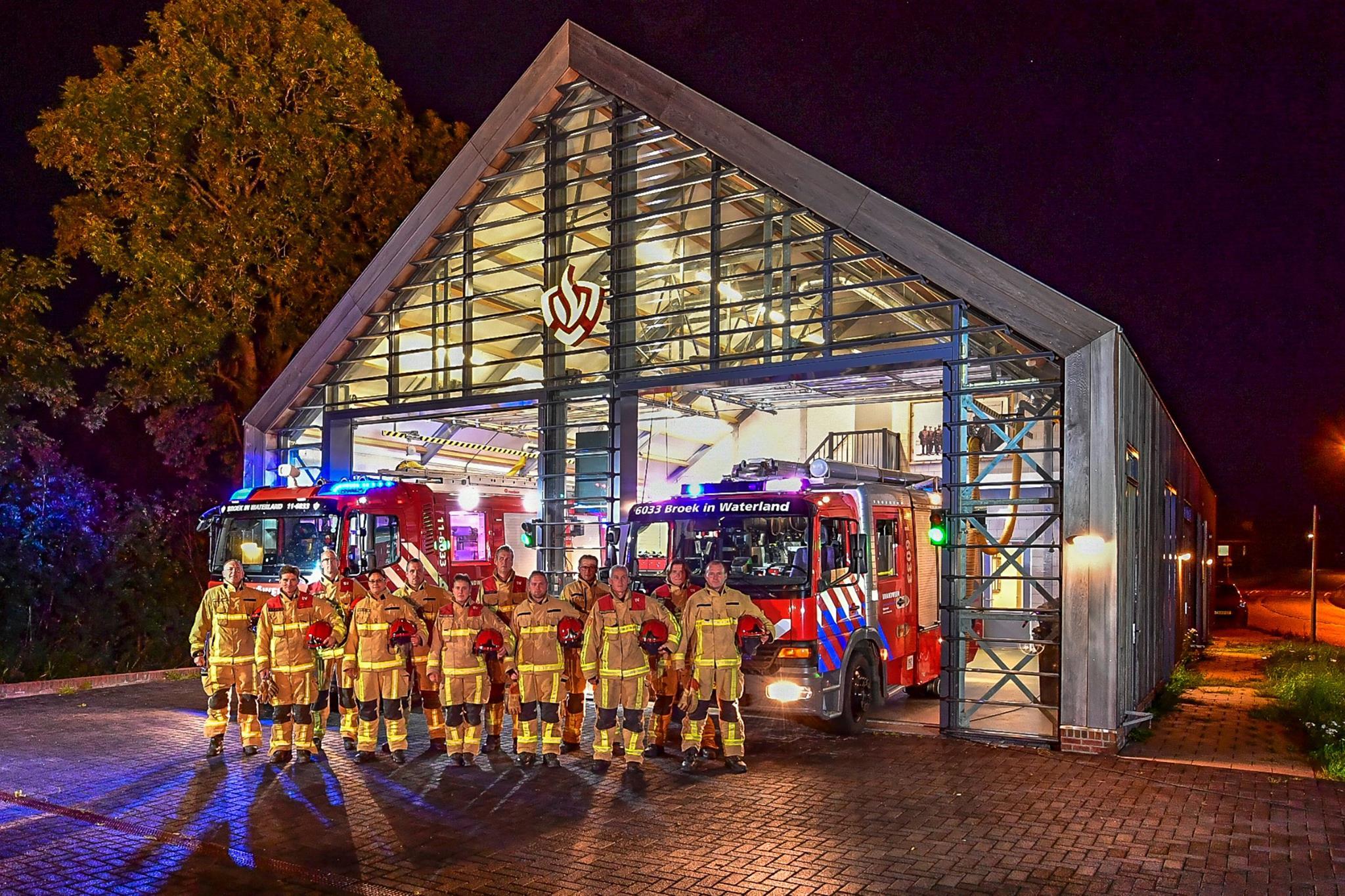 Brandweer in Broek in Waterland